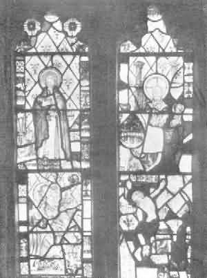 Abbots Bickington: Remains of Old Glass in East Window