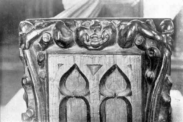Ashcombe: Carved Bench-End