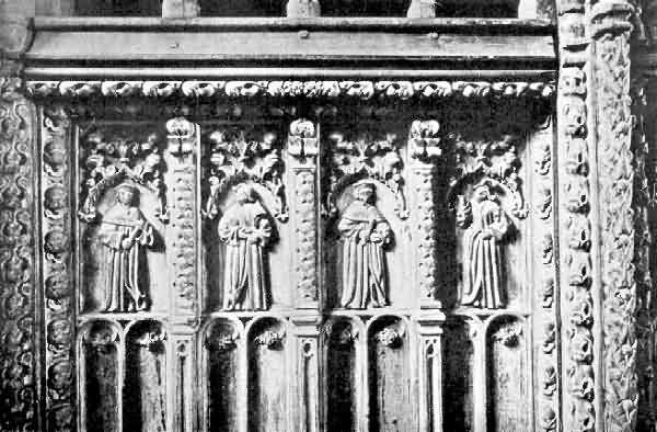 Bridford: Carving on Panels of Screen
