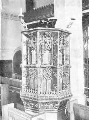 Halberton: Pulpit, 1