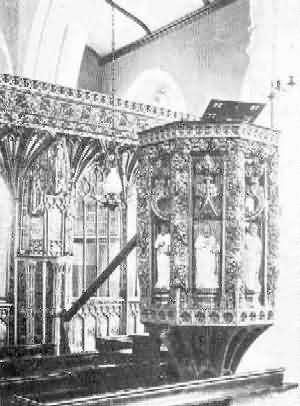 Halberton: Pulpit, 2