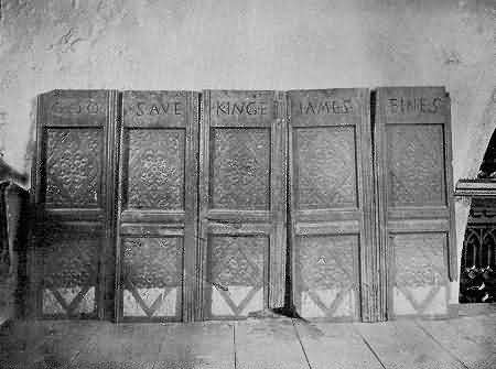 Hartland: Panels of Old Pulpit